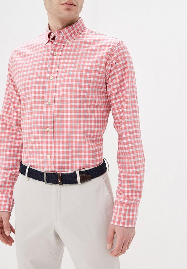 мужская рубашка с длинным рукавом izod, красная