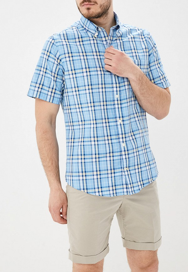 мужская рубашка с коротким рукавом izod, голубая