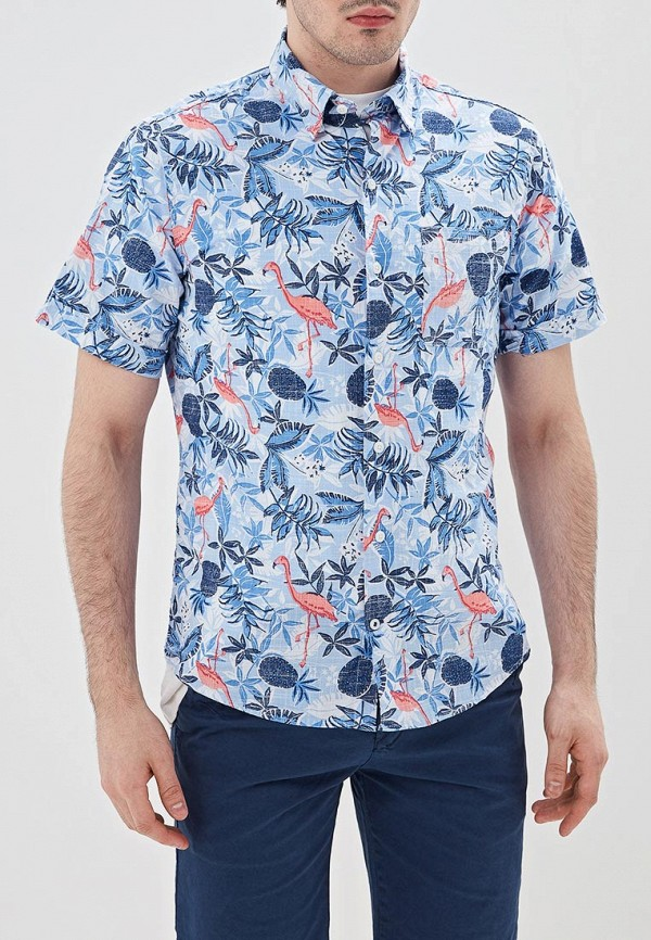 мужская рубашка с коротким рукавом izod, синяя