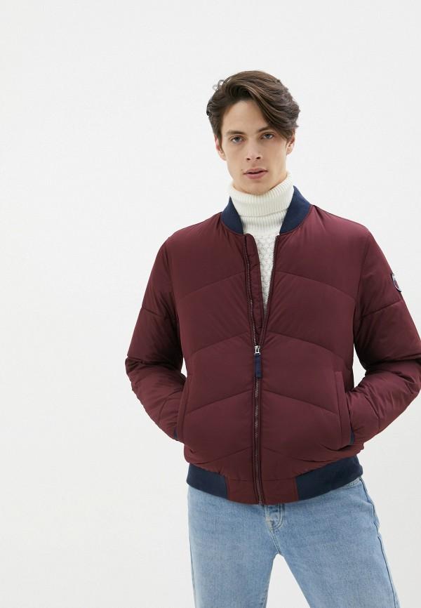 мужская утепленные куртка izod, бордовая