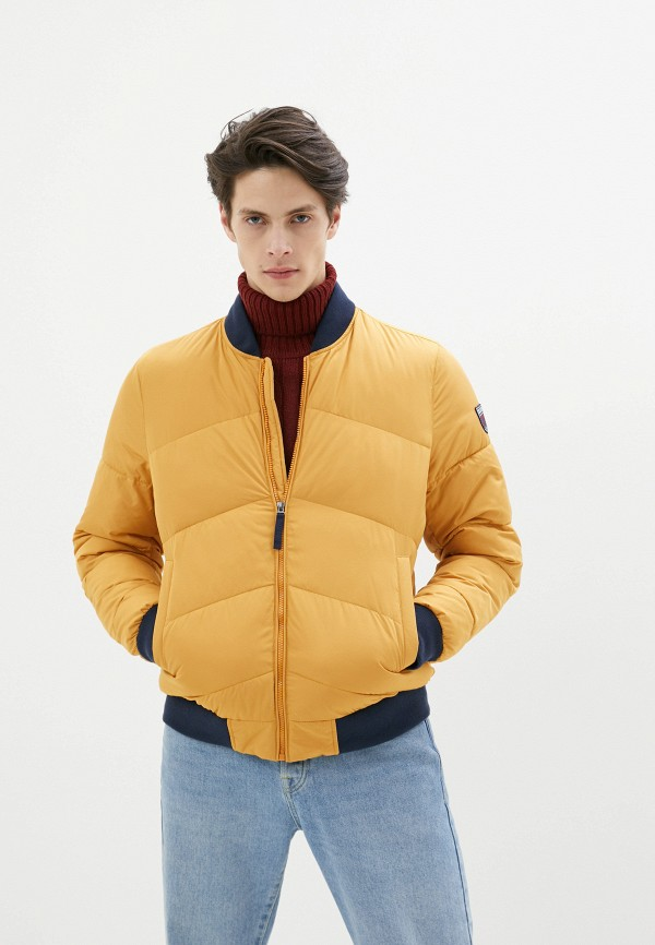 мужская утепленные куртка izod, желтая