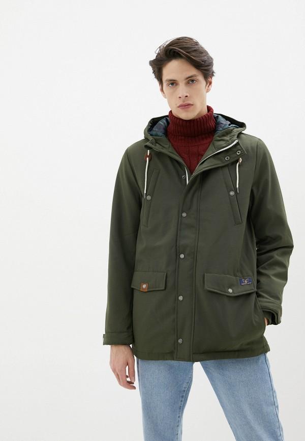 мужская утепленные куртка izod, хаки
