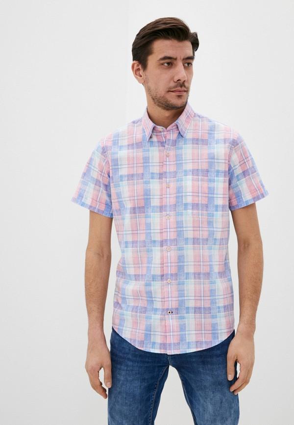 мужская рубашка с коротким рукавом izod, розовая