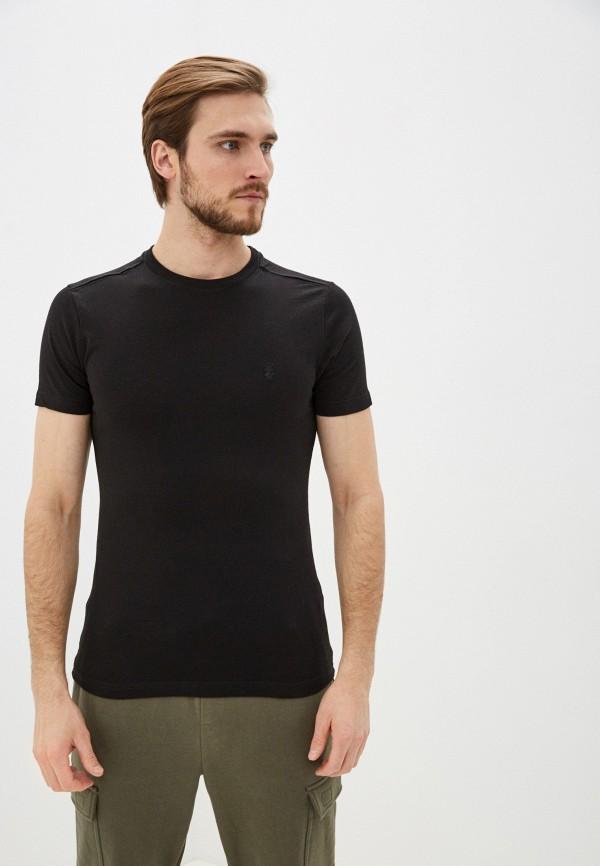 мужская футболка с коротким рукавом izod, черная