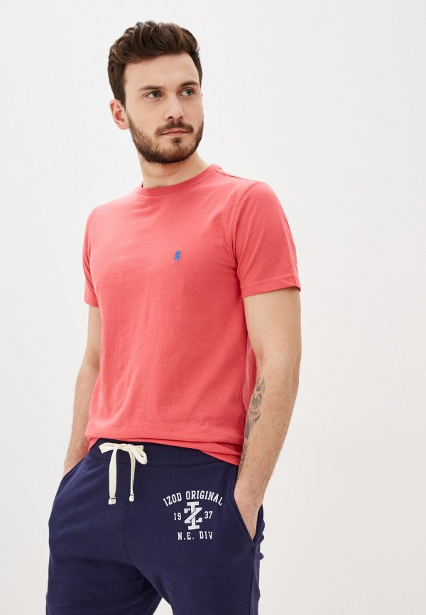 мужская футболка с коротким рукавом izod, розовая
