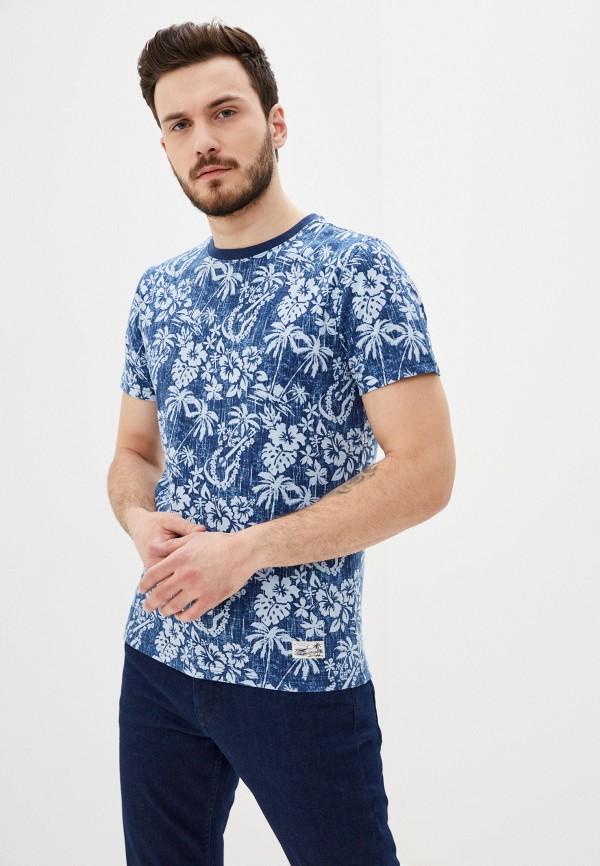 мужская футболка с коротким рукавом izod, синяя