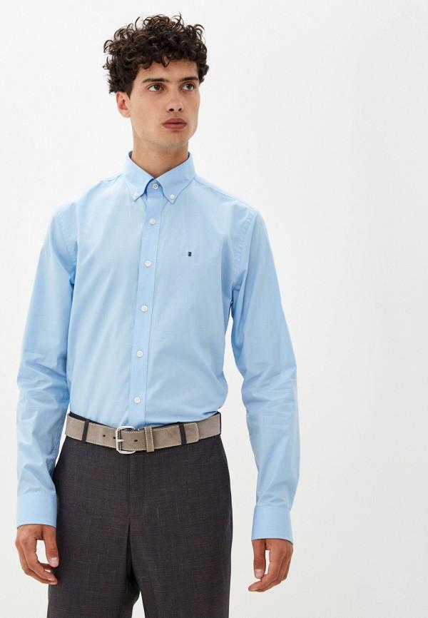 мужская рубашка с длинным рукавом izod, голубая