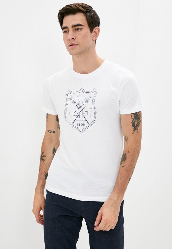 мужская футболка с коротким рукавом izod, белая