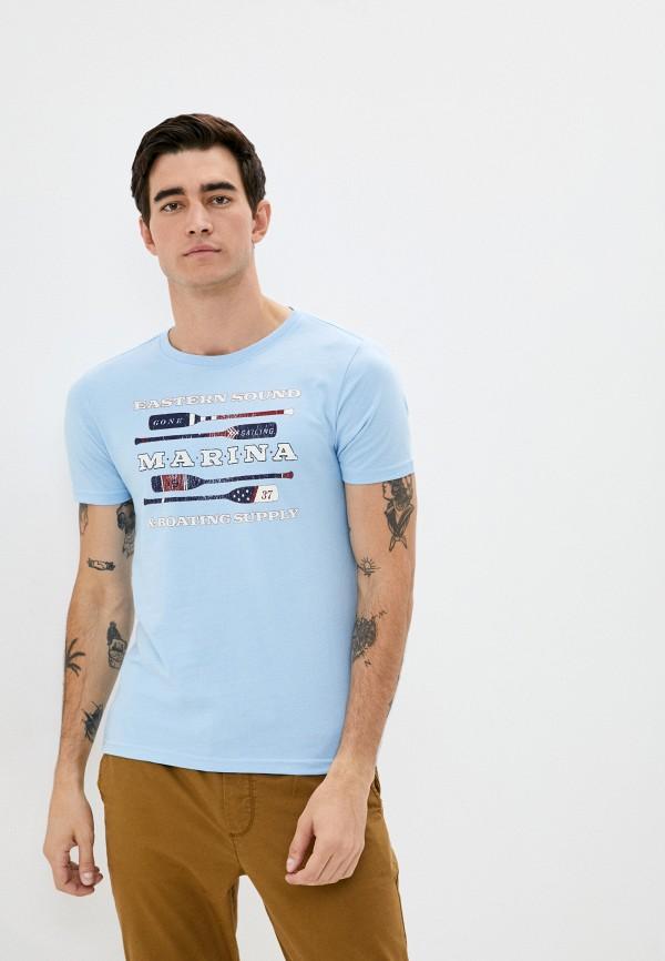 мужская футболка с коротким рукавом izod, голубая