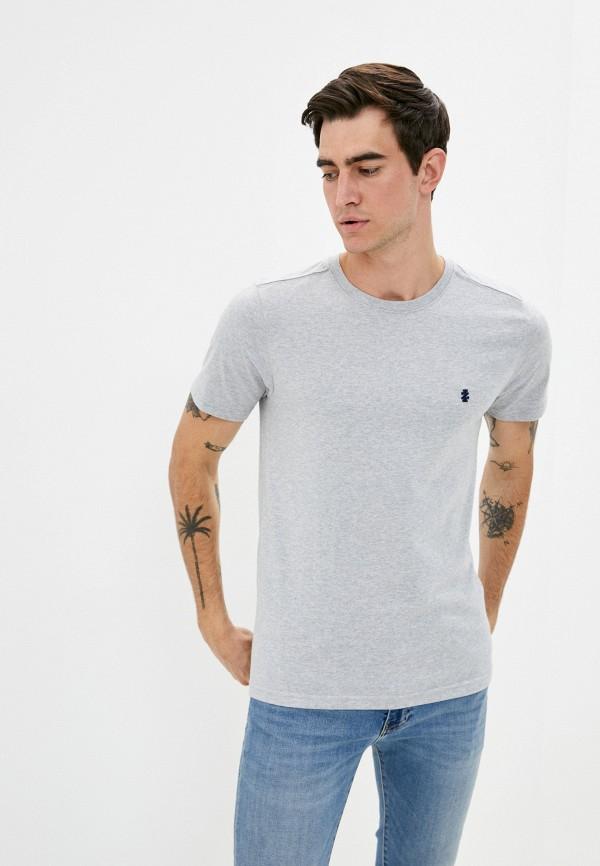 мужская футболка с коротким рукавом izod, серая