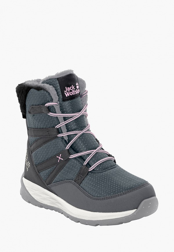 ботинки jack wolfskin для девочки, серые