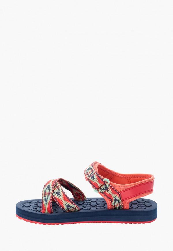сандалии jack wolfskin для девочки, оранжевые
