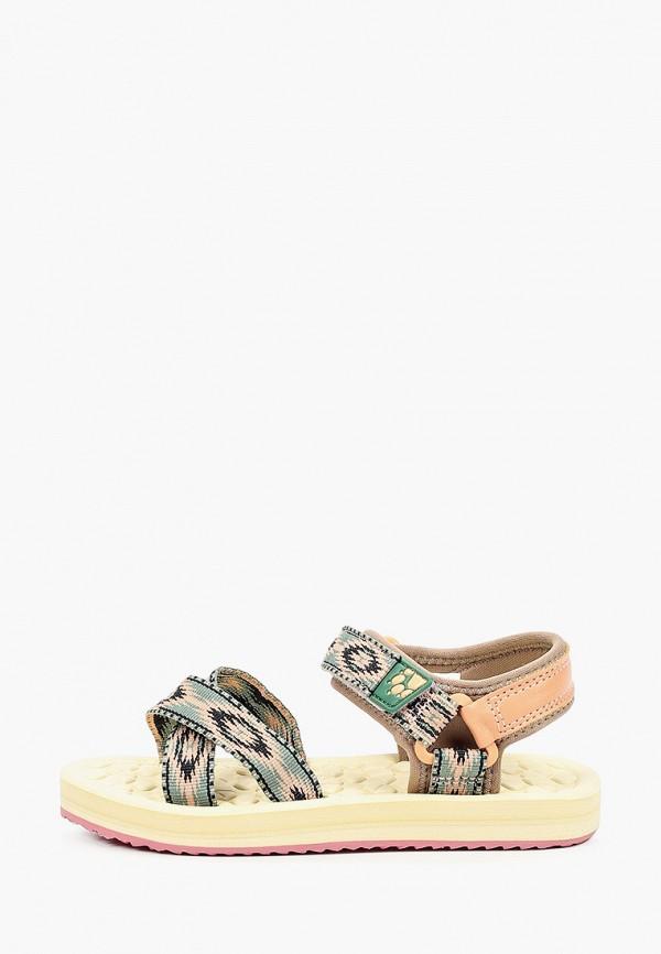 сандалии jack wolfskin для девочки, зеленые