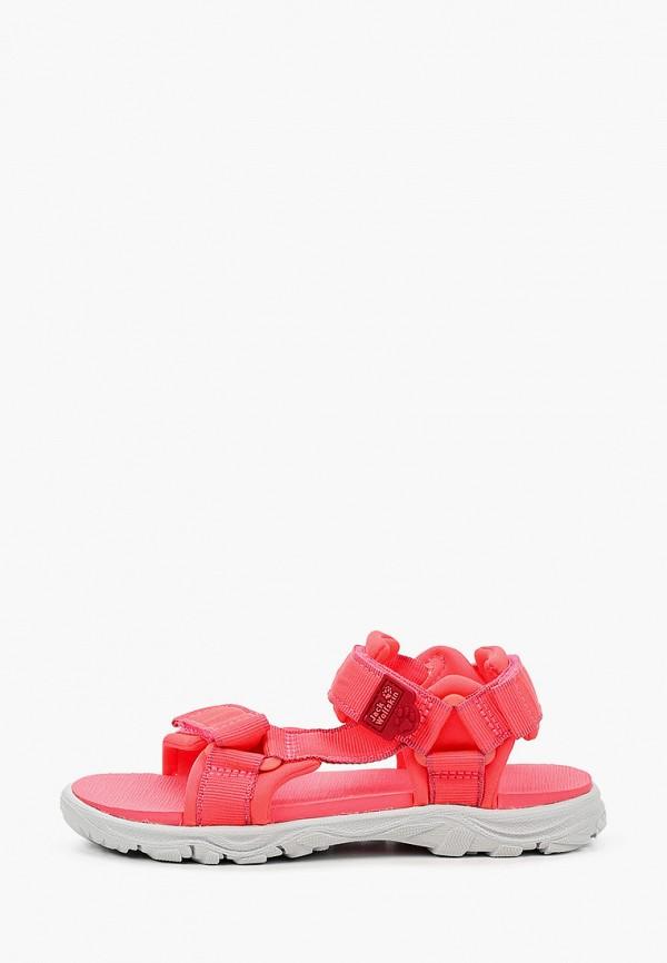 сандалии jack wolfskin для девочки, розовые