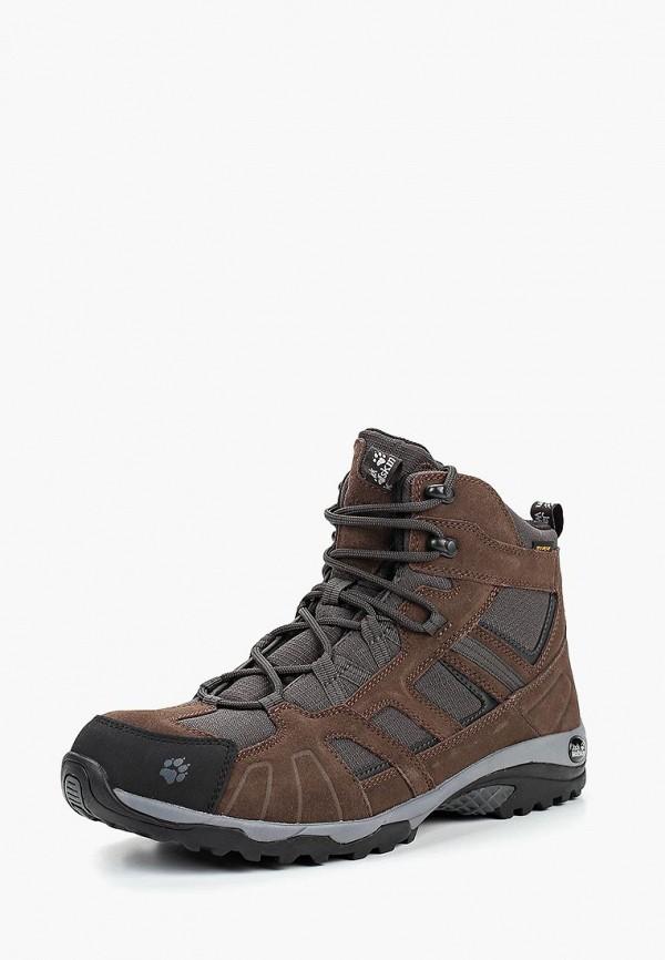 Купить Ботинки Jack Wolfskin, VOJO HIKE MID TEXAPORE MEN, JA021AMCOGQ8, коричневый, Осень-зима 2018/2019