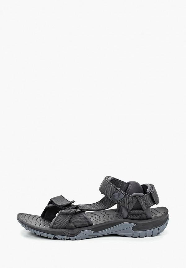мужские сандалии jack wolfskin, серые