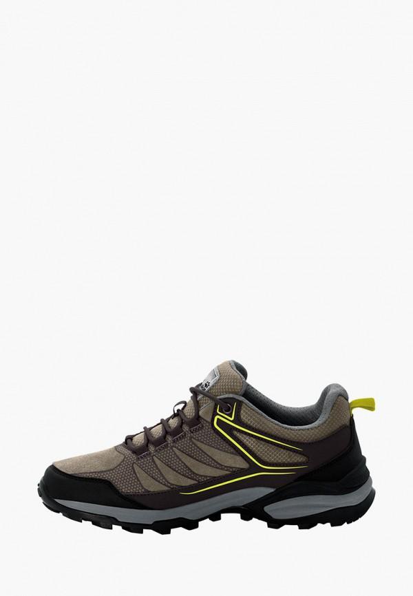 мужские ботинки jack wolfskin, бежевые