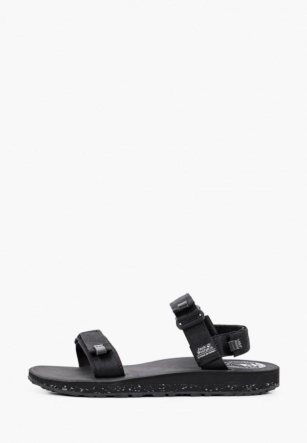 мужские сандалии jack wolfskin, черные