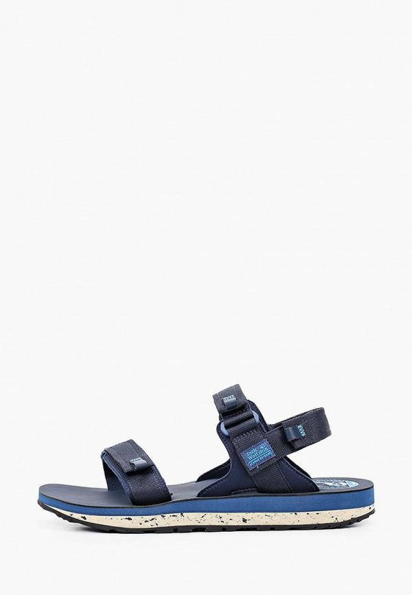 мужские сандалии jack wolfskin, синие