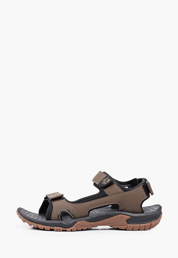 мужские сандалии jack wolfskin, коричневые