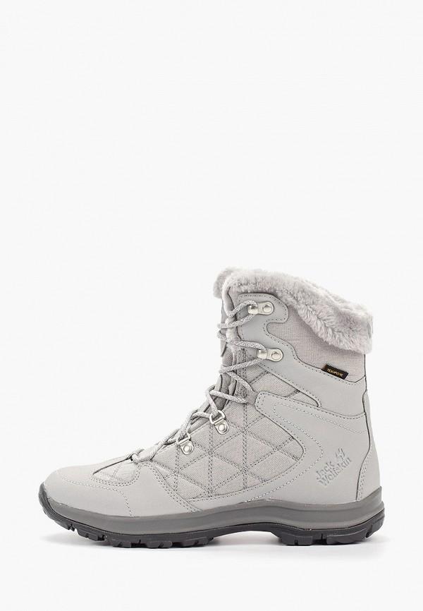 женские ботинки jack wolfskin, серые