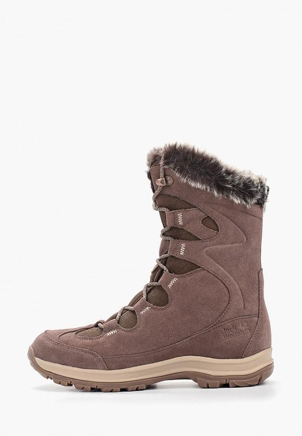 женские ботинки jack wolfskin, коричневые