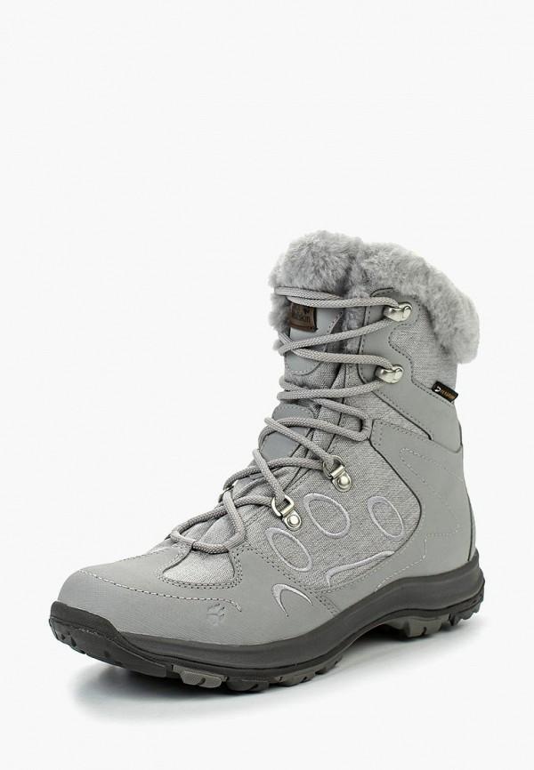 Купить Ботинки Jack Wolfskin, THUNDER BAY TEXAPORE MID W, ja021awkhr18, серый, Осень-зима 2018/2019