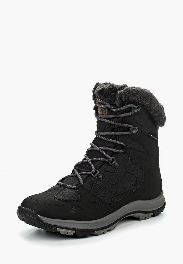 Купить Ботинки Jack Wolfskin, THUNDER BAY TEXAPORE MID W, ja021awkhr19, черный, Осень-зима 2018/2019