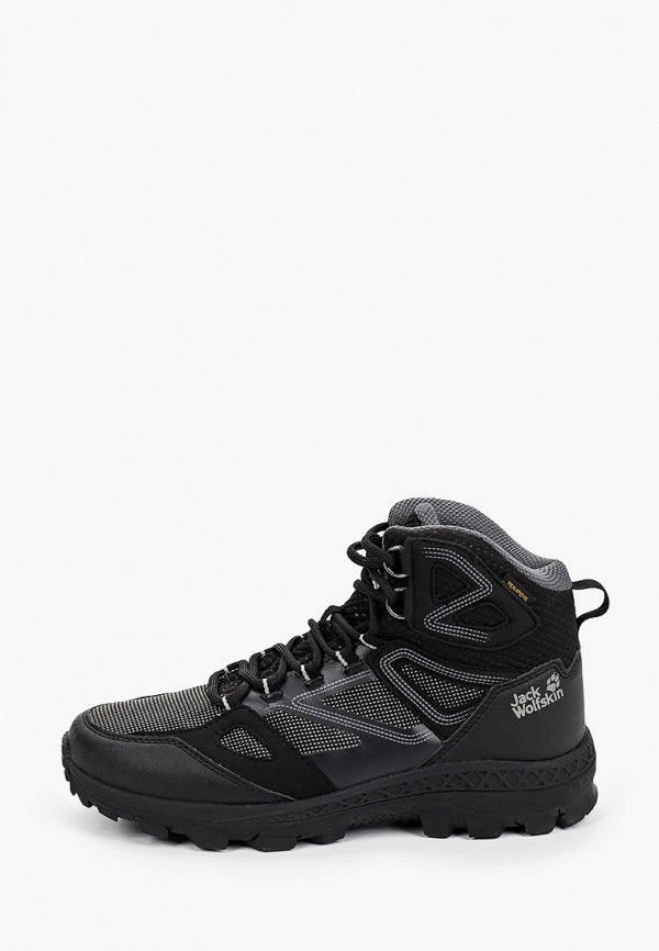 женские ботинки jack wolfskin, черные