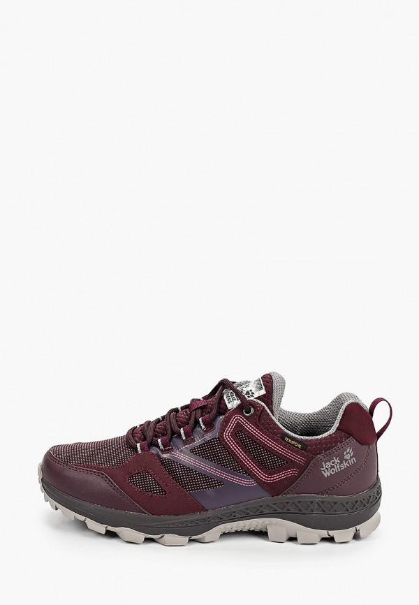 женские ботинки jack wolfskin, бордовые