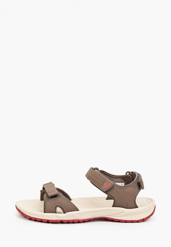 женские сандалии jack wolfskin, коричневые