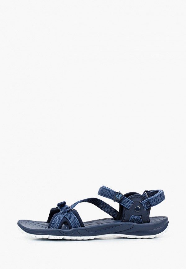 женские сандалии jack wolfskin, синие