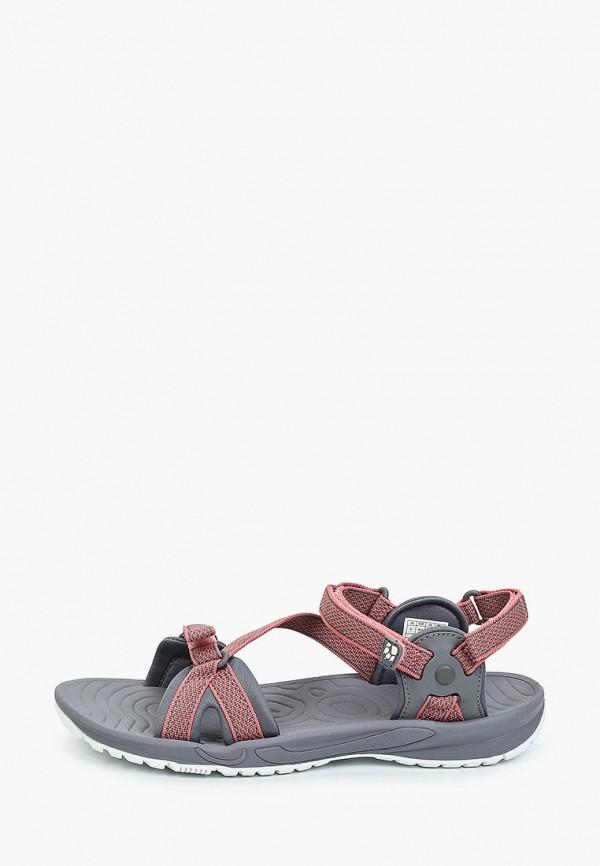 женские сандалии jack wolfskin, серые