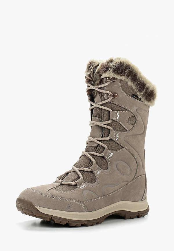 Купить Ботинки Jack Wolfskin, GLACIER BAY TEXAPORE HIGH W, ja021awwhz59, бежевый, Осень-зима 2018/2019