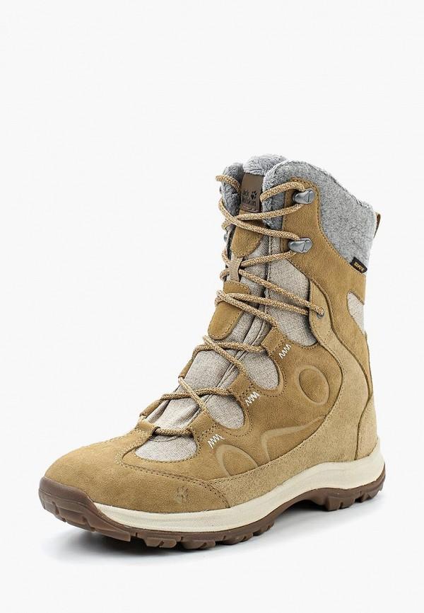 Купить Ботинки Jack Wolfskin, THUNDER BAY TEXAPORE HIGH W, ja021awwhz60, бежевый, Осень-зима 2018/2019