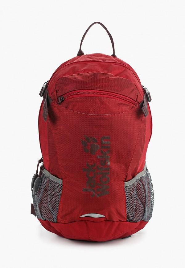 женский рюкзак jack wolfskin, бордовый