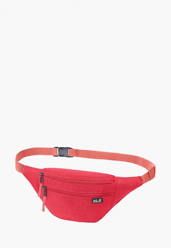 женская сумка jack wolfskin, красная