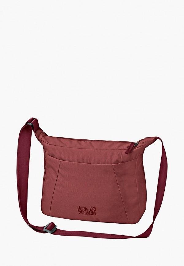 женская сумка jack wolfskin, бордовая