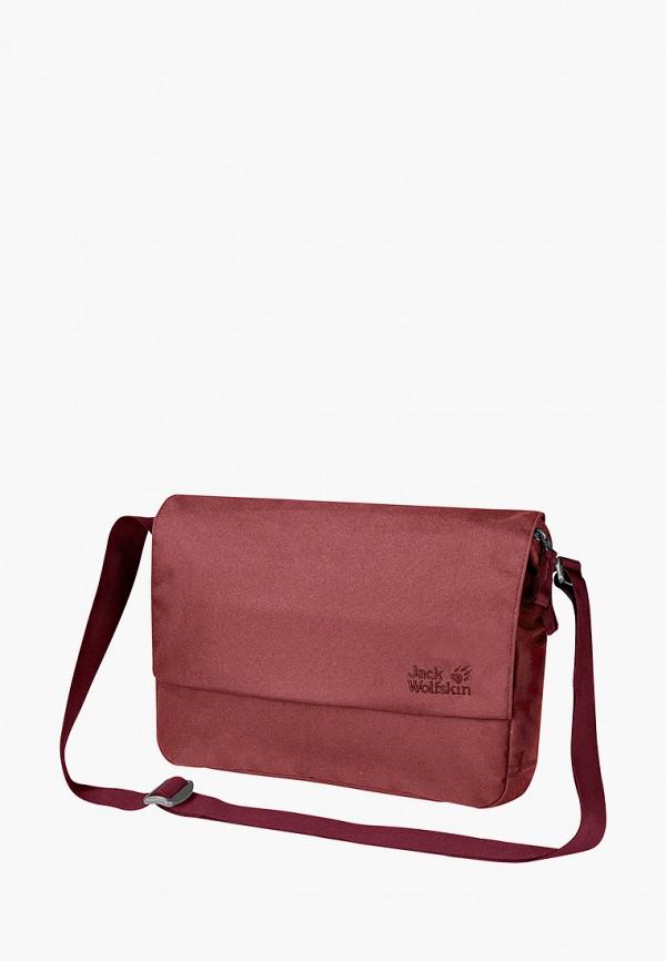 женская сумка jack wolfskin, коричневая