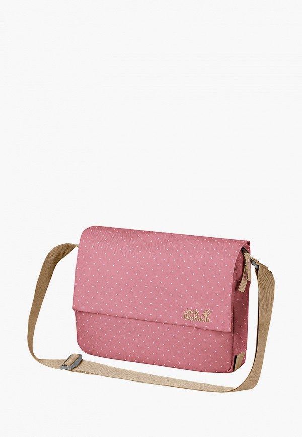 женская сумка jack wolfskin, розовая