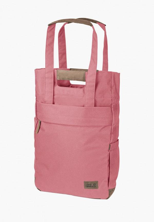 женская сумка-шоперы jack wolfskin, розовая