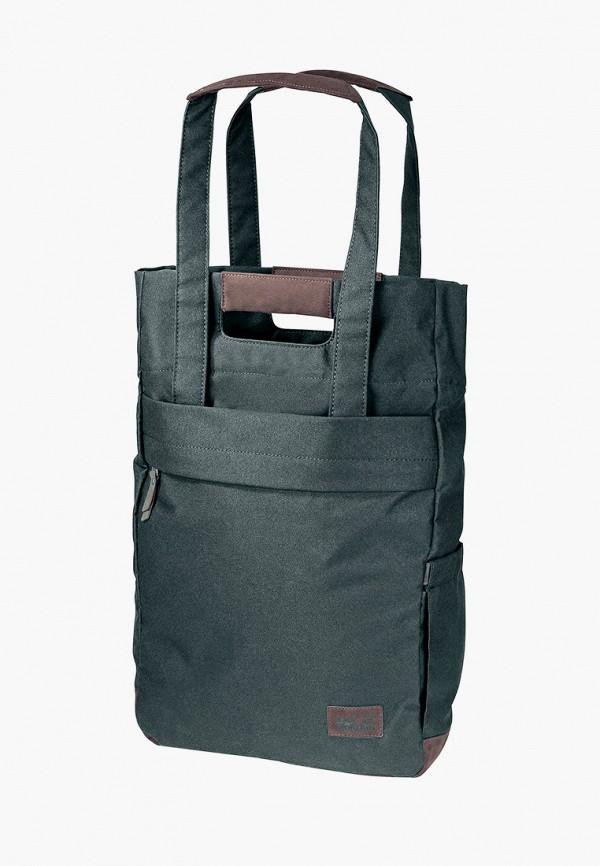 женская сумка-шоперы jack wolfskin, зеленая