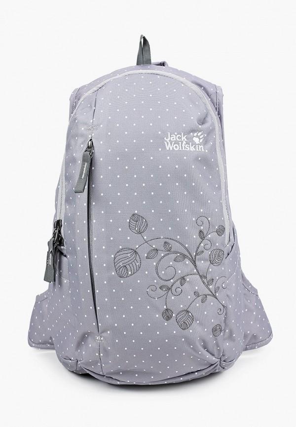женский рюкзак jack wolfskin, серый