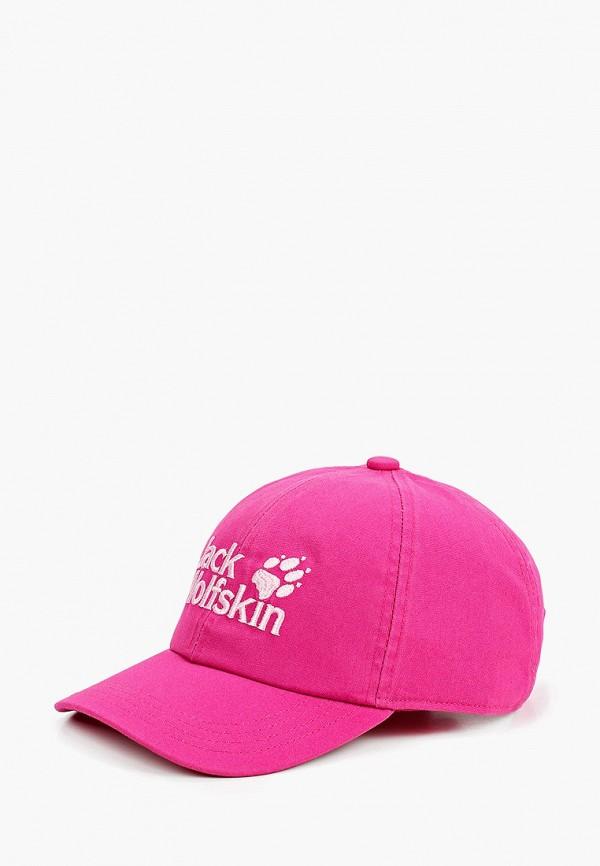 бейсболка jack wolfskin для девочки, розовая