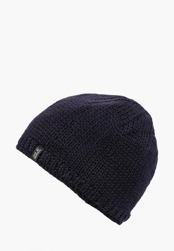 Купить Шапка Jack Wolfskin, STORMLOCK KNIT CAP, ja021cucoeq0, синий, Осень-зима 2018/2019