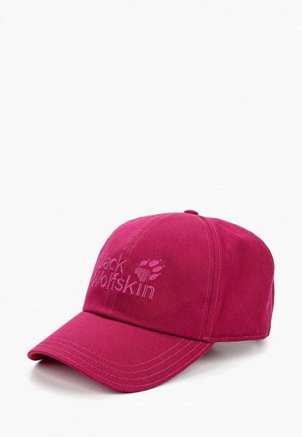 женская бейсболка jack wolfskin, розовая