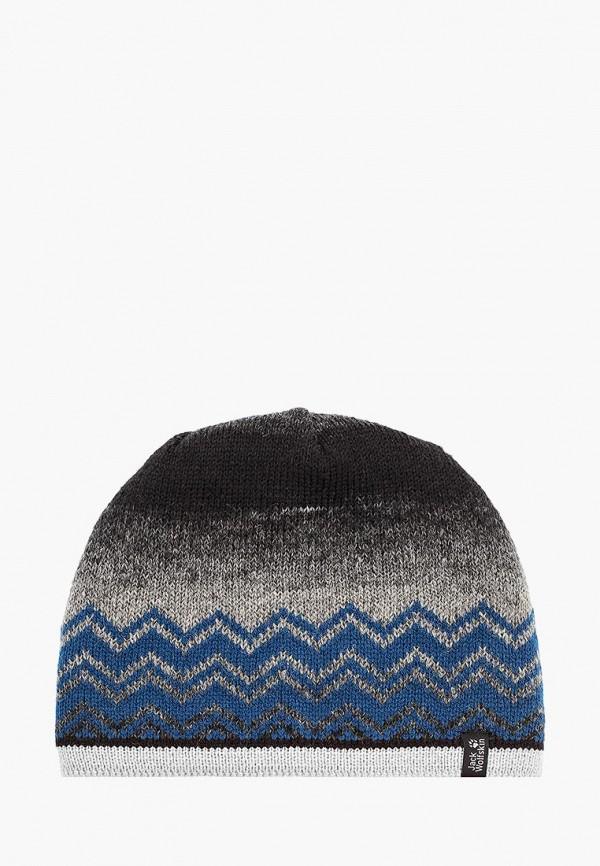 женская шапка jack wolfskin, разноцветная