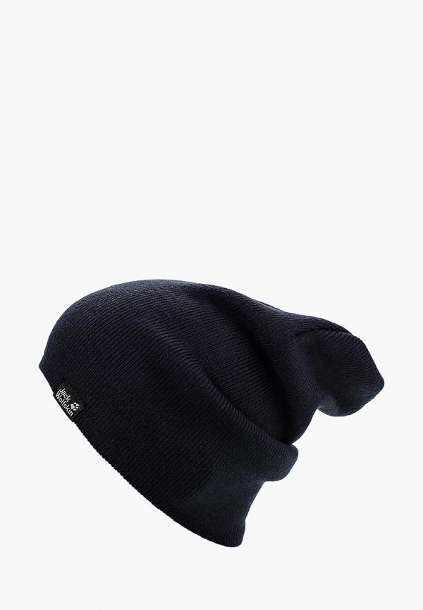 Купить Шапка Jack Wolfskin, RIB HAT, ja021cukhp68, синий, Осень-зима 2018/2019