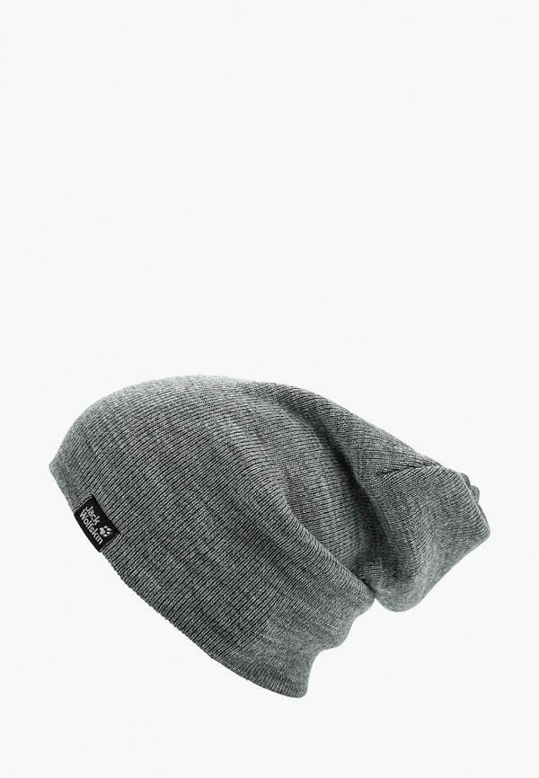 Купить Шапка Jack Wolfskin, RIB HAT, ja021cukhp71, серый, Осень-зима 2018/2019