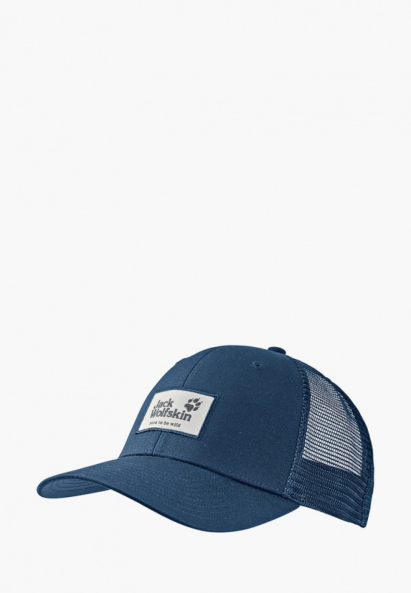 женская бейсболка jack wolfskin, синяя